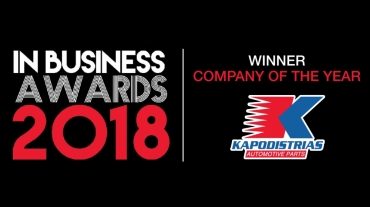 "Kapodistrias wins the ""Company of the Year 2018"" IN BUSINESS AWARD"