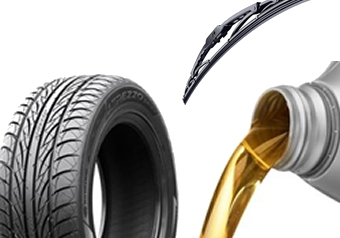 Lubricants, Tyres, Wipers, Tools & Equipment